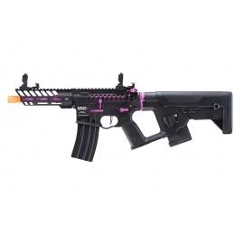Lancer Tactical [Low FPS] Enforcer Needletail Skeleton AEG w/ Alpha Stock (Color: Black / Purple)