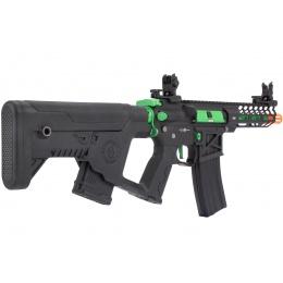 Lancer Tactical Enforcer NEEDLETAIL Skeleton AEG [HIGH FPS] - BLACK/GREEN