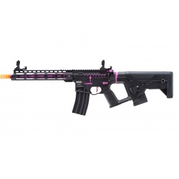 Lancer Tactical Enforcer Blackbird Skeleton AEG w/ Alpha Stock (Color: Black & Purple)