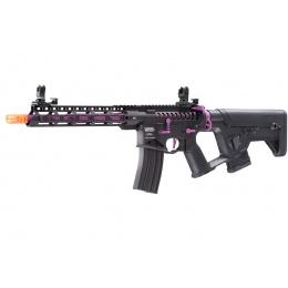 Lancer Tactical Enforcer Blackbird Skeleton AEG w/ Alpha Stock (Color: Black & Purple)