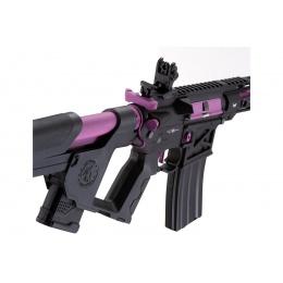 Lancer Tactical [Low FPS] Enforcer Blackbird Skeleton AEG w/ Alpha Stock (Color: Black and Purple)