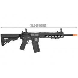 Lancer Tactical Bravo MK1 SMR Black Jack Airsoft Rifle - BLACK