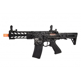 Lancer Tactical ProLine Battle Hawk PDW Airsoft AEG [Low FPS] (Black w/ Wolfpack Laser Engraving)