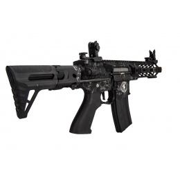 Lancer Tactical ProLine Battle Hawk PDW Airsoft AEG [Low FPS] (Black w/ Wolfpack Laser Engraving)