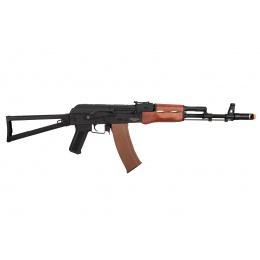 Lancer Tactical AK-Series AK-47N AEG Airsoft Rifle w/ Skeleton Folding Stock (Real Wood Furniture)