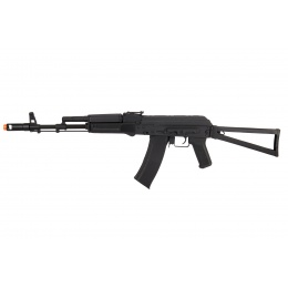 Lancer Tactical AK-Series AK-74M AEG Airsoft Rifle w/ Skeleton Foldable Stock (Black)