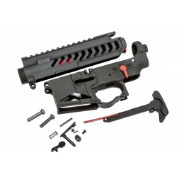 Lancer Tactical M4 AEG Full Metal Skeletonized Upper and Lower Receiver - BLACK