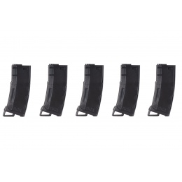 Lancer Tactical 130 Round High Speed Mid-Cap Magazine Pack of 5 (Black)
