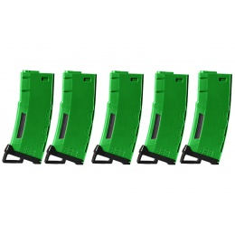 Lancer Tactical 130 Round High Speed Mid-Cap Magazine Pack of 5