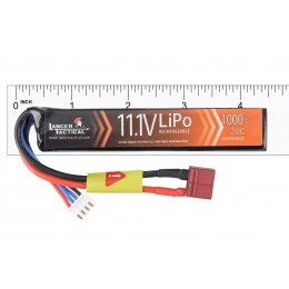 Lancer Tactical 11.1v 1000mAh 15C Stick LiPo Battery (Deans Connector)