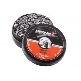 Lancer Tactical 500 Count 0.177 Caliber 8.4 Gram Air Gun Pellets (4.5mm Pointed)