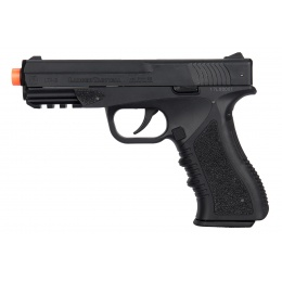 Lancer Tactical Defender LTX-3 CO2 Blowback Airsoft Pistol - BLACK