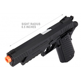 Lancer Tactical Cobra LTX-50 1911 CO2 Half-Blowback Airsoft Pistol - BLACK