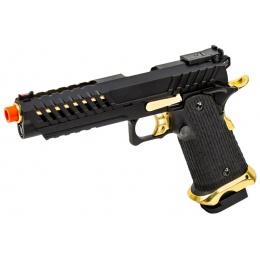 Lancer Tactical Knightshade Hi-Capa Gas Blowback Airsoft Pistol (Color: Black / Gold)