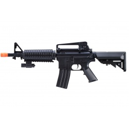 UK Arms M-16C Spring Operated Rifle with Laser Sight and M4 Carbine Handguard (Color: Black)