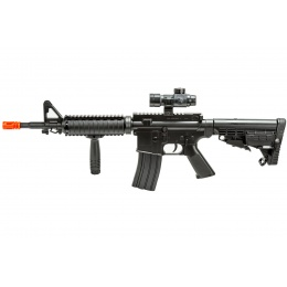 WellFire Spring Powered Tactical M16A1 w/ Foregrip and Scope (Color: Black)