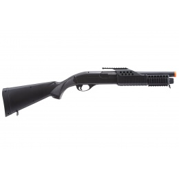 AGM Short Barrel Shell-Fed Pump Action Spring Shotgun (Color: Black)
