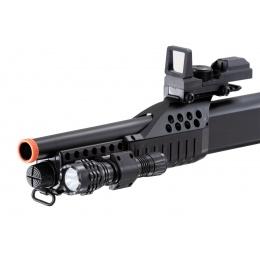 AGM Short Barrel Shell-Fed Pump Action Spring Shotgun (Color: Black)