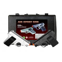 Double Eagle Dual Spring Pistol Set (Color: Black & Silver)