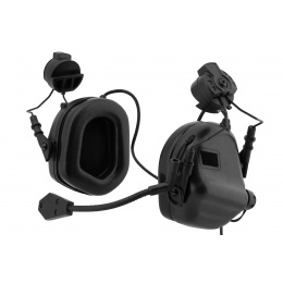 Earmor Tactical Headset M32H Mod 3 with Helmet Adapter (Color: Black)
