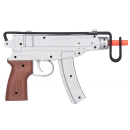 UK ARMS Airsoft M37AS Series Scorpion Spring Pistol w/ Folding Stock - SILVER