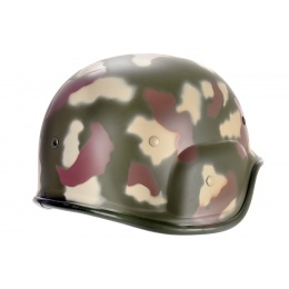 UK Arms PASGT Airsoft Helmet w/ Adjustable Chin Strap - CAMO