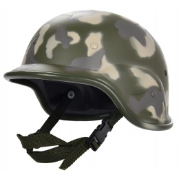 UK Arms PASGT Airsoft Helmet w/ Adjustable Chin Strap - WOODLAND