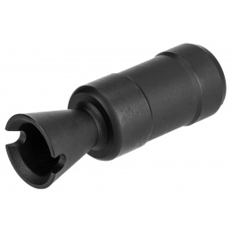 WellFire AK74U Airsoft Flash Hider [22mm CCW] - BLACK