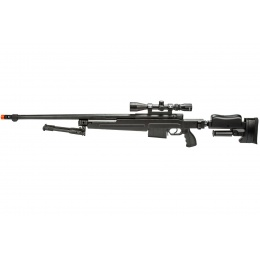 WellFire MBG86B Bolt Action Gas Powered Sniper Rifle w/ Scope and Bipod (Color: Black)