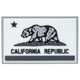 California Republic PVC Morale Patch (Color: Black / Gray)