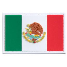 Mexico Flag PVC Patch (Color: Green / White / Red)