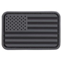 US Flag PVC Patch (Color: Gray / Black)