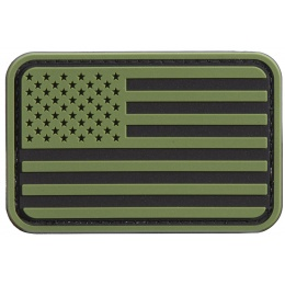 US Flag PVC Patch (Color: OD Green / Black)