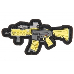 PVC Morale Patch M4 SBR (Color: Yellow / Grey)