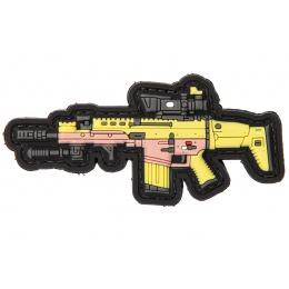 PVC Morale Patch MK17 DMR (Color: Yellow / Pink / Yellow)