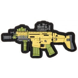 PVC Morale Patch MK17 (Color: Yellow / Green / Grey)