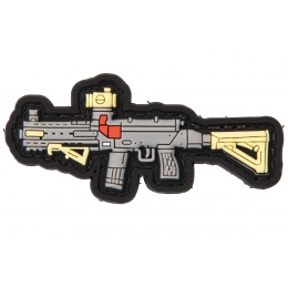 PVC Morale Patch Type 79 (Color: Grey, Yellow, Red)