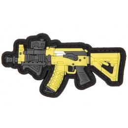PVC Morale Patch AK (Color: Yellow / Grey)