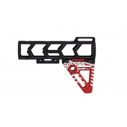 Ranger Armory Aluminum Patriot Stock (Black / Red)