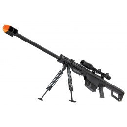 Snow Wolf M82 Spring-Powered Airsoft Sniper Rifle - BLACK