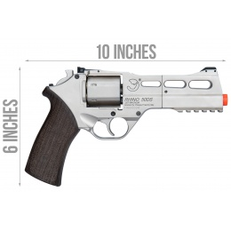Bo Manufacturer Chiappa Rhino Revolver 50DS .357 Magnum Style Airsoft Pistol (Silver)