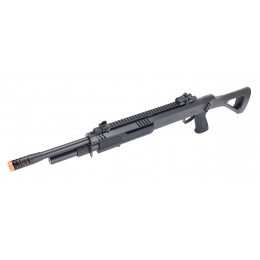 BO Manufacture FABARM STF/12 Long Barrel Shotgun w/ Fixed Stock - BLACK