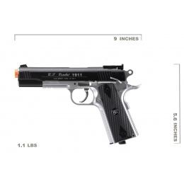 Win Gun Sport 1911 CO2 Non-Blowback Airsoft Pistol w/ Accessory Rail (Color: Black / Silver)