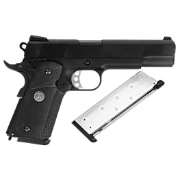 WE Tech 1911 Full Metal MEU Airsoft Gas Blowback Pistol - BLACK