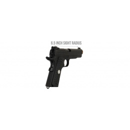 Armory Full Metal Knighthawk 1911 Gas Blowback Airsoft Pistol - BLACK