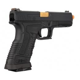 WE Tech GP1799 T1 Gas Blowback Airsoft Pistol - BLACK / GOLD BARREL