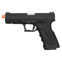 WE Tech GP1799 T1 Gas Blowback Airsoft Pistol - BLACK / SILVER BARREL