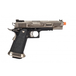 WE-Tech Hi-Capa 5.1 T-Rex Full Auto Gas Blowback Competition Pistol (Silver)