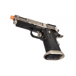 WE-Tech Hi-Capa 3.8 Brontosaurus Full Auto Gas Blowback Pistol (Silver)