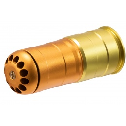Lancer Tactical 120 Round CNC Aluminum Airsoft 40mm Gas Grenade Shell (Color: Gold)